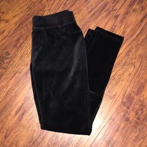Black velour Juicy Couture leggings